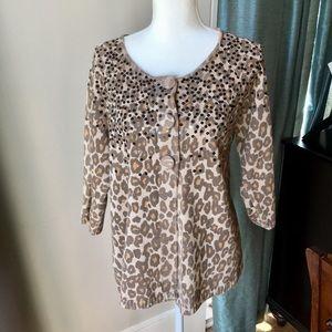 Chico's leopard cardigan